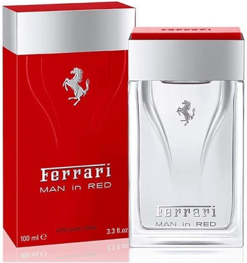 Ferrari man in red after shave lotion dopobarba per uomo 100 ml FRR00107