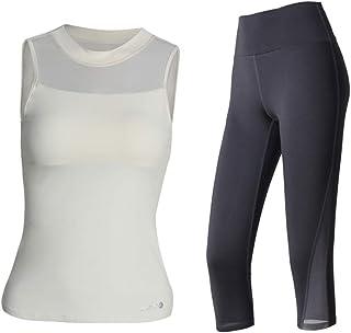 Yoga Wear No Sleeve Sport Suits Women's Mesh Design Sweatsuits Yoga Jogging Tracksuits