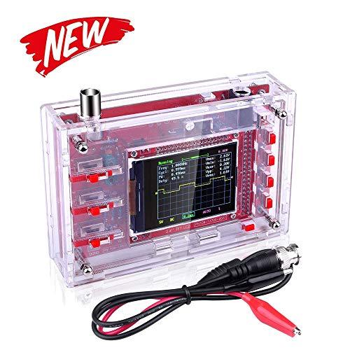 """Gearwoo DSO 138 DIY-Oszilloskop-Kit Öffnungsquelle 2,4\""""TFT 1MSPS Digital-Oszilloskop-Kit mit DIY-Teilen und Sonde, Handheld-Taschengröße, vorgelötet + Gehäuse"""
