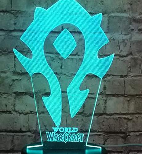 Led Nachtlichtfilm Wow Logo World Of Warcraft Figur Cartoon Led Mario Buzz Dekor Baby Schlaf Stimmung Nachtlicht Urlaub Freund Party Xmas Gift-Wow_Controller_7_Color_Buzz_Touch_One_7_Color