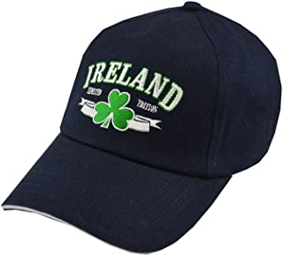 Carroll's Irish Gifts Baseball Cap with Embroidered Ireland Limited Edition Print and Shamrock, Green