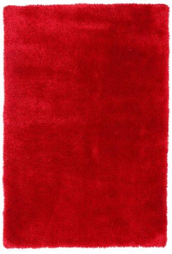 ABC Tappeti Alfombra Shaggy Seda Coral/Rojo 120X180