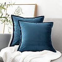 2-Piece Bedsure Velvet Throw Pillow Covers