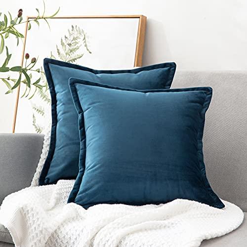 Set of 2 Bedsure Velvet Throw Pillow Covers 18x18 Now $3.49