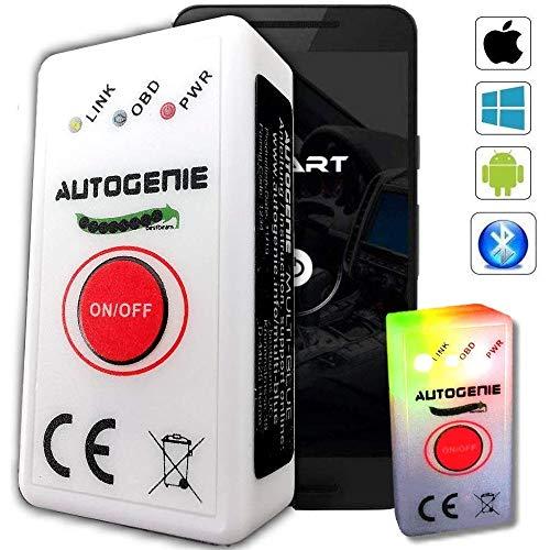bestbeans Autogenie © Multi-Blue 2021 OBD2 Diagnosegerät für iPhone iOS & Android Bluetooth 4.0 ECHTZEIT-Daten HUD Torque Auto KFZ Fehler-Speicher Lesen Löschen