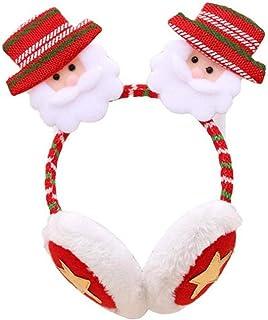 Regali di Natale di Babbo Natale con Renne Paraorecchie di Pelliccia Sintetica Peluche Scaldini Invernali di Natale NALCY Paraorecchie di Cartone Animato Paraorecchie di Renna 2 Pcs