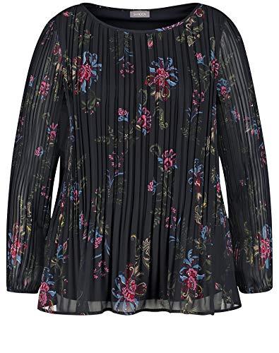 Samoon Damen 360011-21404 Bluse, Mehrfarbig (Navy Gemustert 8102), (Herstellergröße: 52)