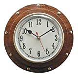 Nave Reloj, Reloj de Pared en Ojo de Buey, Marítimo Reloj de Pared, Mecanismo de Cuarzo