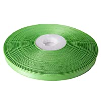 リボン・洋裁・手芸材料◆ナイロンサテンリボン6mm(1m)片面 黄緑32