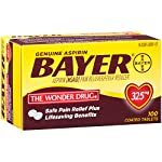 Genuine Bayer Aspirin 325mg Coated Tablets, Pain Reliever and Fever Reducer, 100 Count 14 Provides safe, proven pain relief when taken as directed Is caffeine-free Is sodium-free