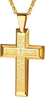 Stainless Steel Cross Necklaces, Black/18K Gold Plated, Men/Women Jewelry, Christmas Gift, 22
