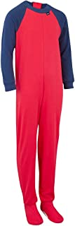 Special Needs Unisex Long Seeve, Zip Back Footed Pajamas for Kids (3-16 yrs)