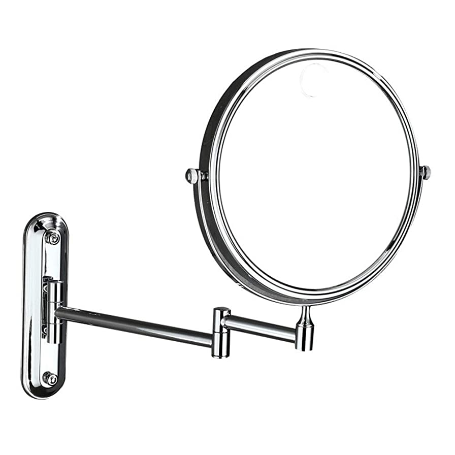 傾向があります硬さ今日Led化粧鏡 LED照明虫眼鏡両面回転3回虫眼鏡壁掛け美容化粧鏡調節可能なバスルーム化粧台化粧鏡化粧鏡 ポータブル化粧鏡 (色 : 銀, サイズ : ワンサイズ)