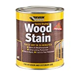 Everbuild Quick Drying Professional Solvent Free Satin Finish Wood Stain, Teak, 250 ml