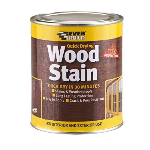 Everbuild Quick Drying Wood Stain, Natural Oak, 250 ml