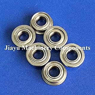 Fevas 50 PCS SMF84ZZ Flanged Bearings 4x8x3 mm Stainless Steel Flange Ball Bearings DDLF-840ZZ