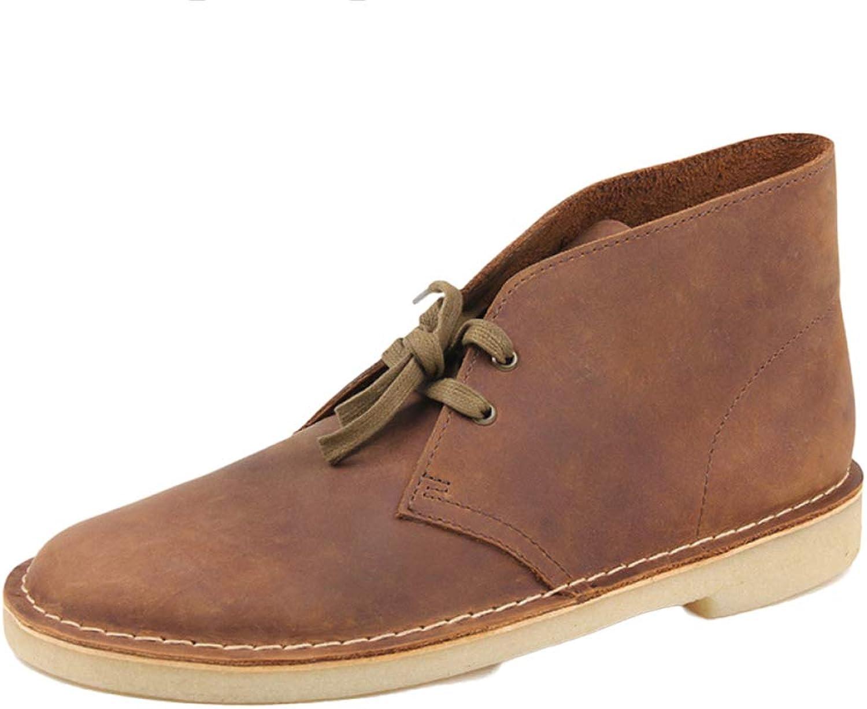 Wüstenschuhe Stiefel Herren Lace up Retro Casual Lederstiefel Martin Stiefel Mode Werkzeugstiefel Cowboy Stiefel