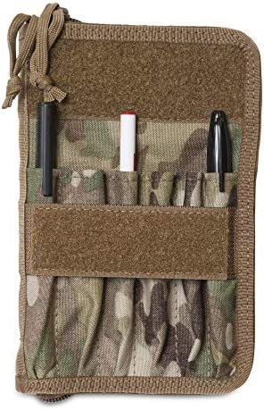 "TACTICAL NOTEBOOK COVERS.COM TACSOP Battle Book Cover System for 4x6"" Notebooks, with 6 Pleated Pen/Marker Slots, Zippered case"