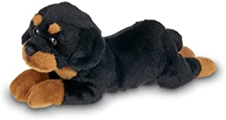 Bearington Lil' Gunner Small Plush Rottweiler Stuffed Animal Puppy Dog, 8 inches