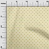 oneOone Bio-Baumwoll-Voile Stoff Polka Punkte Stoffdrucke