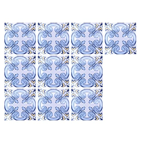 Pegatinas para azulejos, 10 piezas tridimensionales de PVC DIY pegatinas autoadhesivas para cocina baño pared piso escalera 3.9x3.9in(#3)