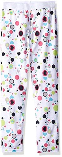Hot Chillys Hot Chillys Youth Pepper Skins Unterteil, Punkte und Herzen, Weiß, groß