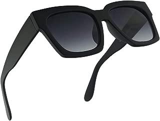 Super Oversize Casual Boyfriend Sunglasses for Women 50mm Frames with Dark Black Lens - Street Fashion Sunnies