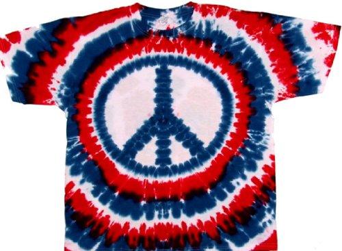 Tie Dyed Shop Cotton Peace Sign Tie Dye T Shirt Patriotic Red White Blue 3X