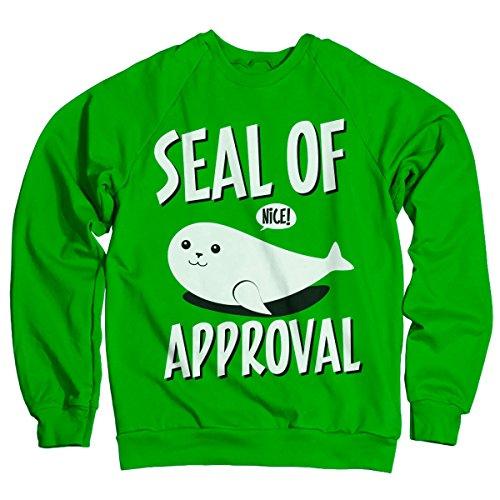 Seal Of Approval Offizielles Lizenzprodukt Sweatshirt (Grün) Small