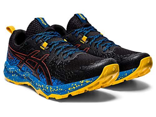 ASICS Men's Fujitrabuco Lyte Running Shoes, 7M, Black/Directoire Blue