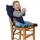 Uni Meilleur Bébé Portable Chaise Haute Voyage Sièges Housse de Sécurité pour Tout-Petits Chaise Haute Sangle Infantile Ceinture Sangle De Siège D'alimentation (bleu foncé)