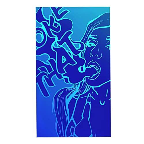 Toallas Estilo Atractivo Sexy Cubierta Roja Chica Con Cachimba Toalla De Secado Rápido Suave Y Absorbente Toallas De Baño De Fibra Superfina Toalla De Baño Para Adultos Y Niños 27.5x15.7 Pulga