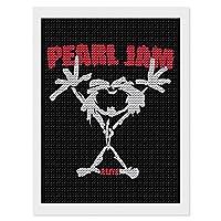 "Pearl Jam パール・ジャム ダイヤモンドアート ダイヤモンド画 5d ダイヤモンドペインティング DIY 手作り絵画手芸キット モザイクアート ビーズアート全面貼り付けタイプ 手芸 刺しゅうキット 家の壁の装飾工芸品 大人子供 12""×16"""
