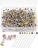 800 Piezas Alfileres de Acero Inoxidable con Cabeza de Plástico de Colores