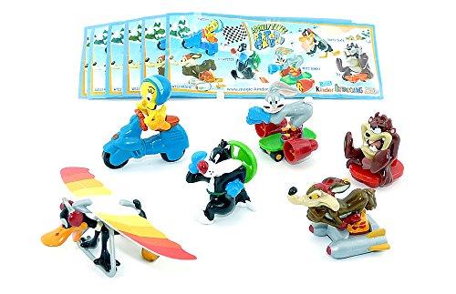 Kinder Überraschung Alle 6 Figuren der Looney Tunes Pisten Gaudi mit BPZ Komplettsätze