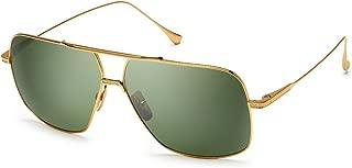 Dita FLIGHT. 005 7805 D-18K 18K Gold-w/Vintage Green-Black Flash-AR Sunglasses