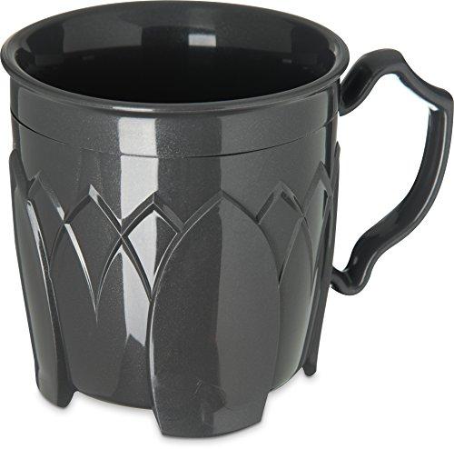 "Dinex DX500044 Fenwick Insulated Mug Coffee Cup, 8 oz, 3.5"" Height, 3.5"" Width, 3.5"" Length, Urethane Foam, Graphite Grey (Pack of 48)"