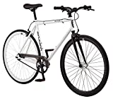 Schwinn Stites Single-Speed Fixie Bike, for Urban and City Riding, Silver