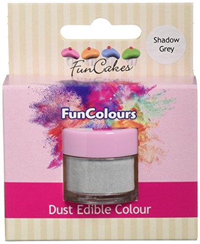 FunCakes Edible FunColours Dust - Shadow grau, 5er Pack (5 x 1 g)
