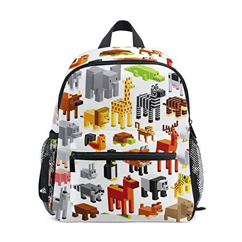 Mochila escolar para niños para niñas de dibujos animados de animales, taburetes escolares mochila bolsa de libro
