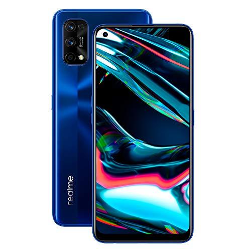realme - 7 Pro Smartphone de 6.4', 8GB RAM + 128GB ROM, Pantalla SuperAMOLED FHD+, procesador Octa-Core Snapdragon 720G, Carga Super Dart de 65W (Azul Espejo)