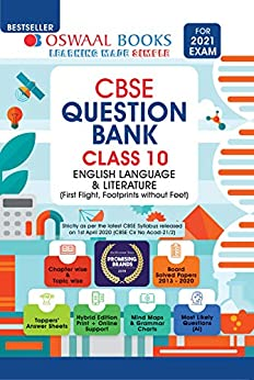 Oswaal CBSE Question Bank Class 10, English Language & Literature (For 2021 Exam) by [Oswaal Editorial Board]