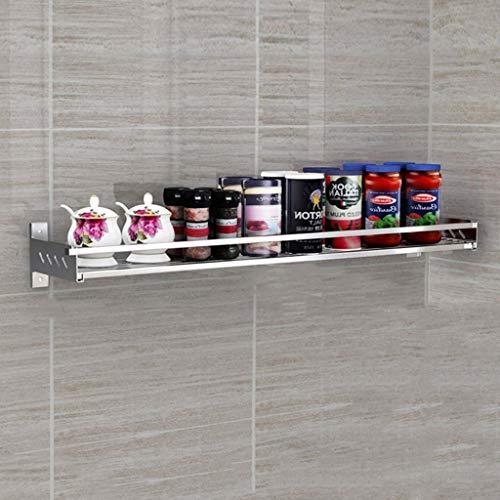 HJSCD Küchenwandregal aus Edelstahl 304 für Gewürze Multifunktions-Hängelager spart Platz und Ladung, B (Size : 60cm)