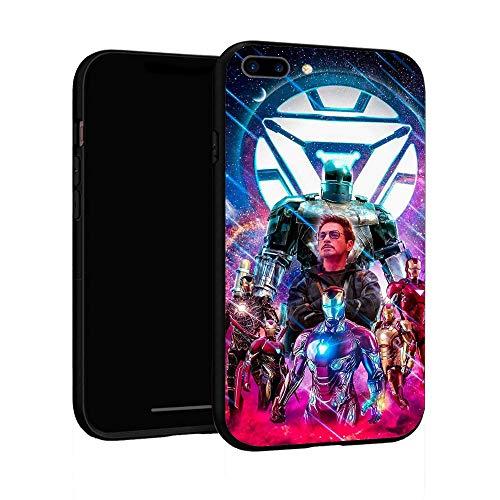 Funda para iPhone 7 Plus Funda 8 Plus, Funda básica de plástico para iPhone 7 Plus / 8 Plus (Iron Man)
