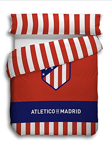 Juego Funda Nórdica Oficial Atlético Madrid 2018. Cama de 90cm.