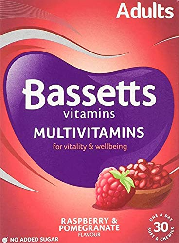2 X Bassetts Raspberry and Pomegranate Adult Multivitamin Chewies - Pack of 30