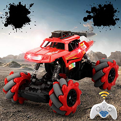 Remote Control Car, Rc Cars Rc Monster Truck for Boys Girls, 2.4 Ghz High Speed Racing Car Off-Road Truck Rock Crawler Vehicle Drift Stunt All Terrain Climb Truck Electric Toy Car for Kids Adult