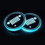 LED per portabicchieri auto Portabicchieri della tazza del titolare della tazza del LED Tazza del titolare del logo per J'e-E'p, 7 colori che cambiano USB della tappetino della tappetino della tappeti