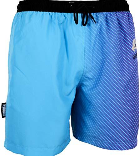 GUGGEN Banador de Natacion para Hombre Traje de Bano Color Azul Lila XXXL
