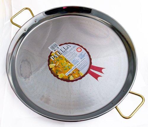 La Ideal Paella-Pfanne, Edelstahl, silberfarben, 90cm